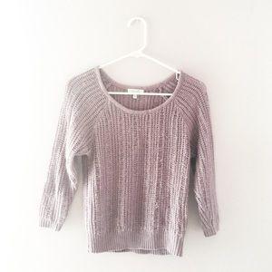 Cozy lilac purple sweater